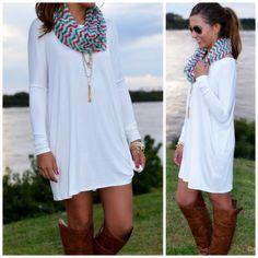 white piko dress tshirt comfy