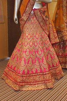 Indian bridal lehenga Pakistani designer bollywood wedding wear lengha choli set #Handmade #lehengacholi