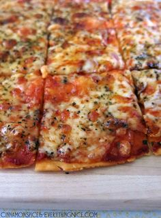 Pizza St. Louis-Style. This looks fabulous! #pizza #recipe #dinner