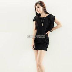 Korea Women's Sexy Round Collar Irregular Outer Cover Slim Fit Mini Dress EP98 | eBay