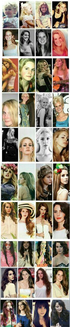 Evolution of Lana Del Rey Elizabeth Woolridge Grant, Elizabeth Grant, Life Is Beautiful, Beautiful People, Beautiful Women, Light Of My Life, Actor Model, Her Music, Celebs