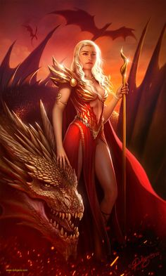"artofthrones: "" Fire and Blood by Deligaris """
