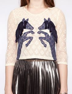 Wild horse lace top - love the whimsy!