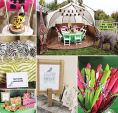 Cute & Girly Safari Birthday Party