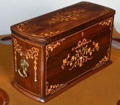 Late Victorian inlaid writing box c1890