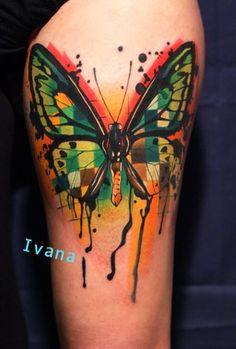 Crazy modern butterfly tattoo