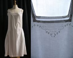 Combinaison coton  brodée blanche Lingerie par SergineBroallier