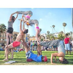 Acrobatics at the original Muscle Beach