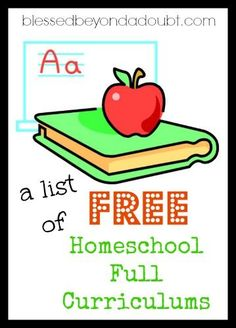 A List of FREE Full Homeschool Curriculums!