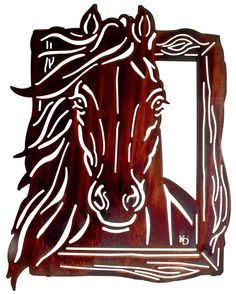 Horse Gaze Laser Cut Metal Wall Art