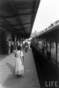 Estación central del Ferrocarril, Plaza Barrios zona 1. Década de los 50s