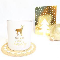 Wit en goud is een hele mooie en rustige combinatie voor Kerst. Bedankt voor je foto Rose.