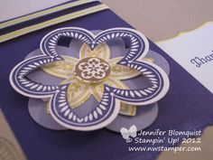 Northwest Stamper » Jennifer Blomquist, Stampin' Up! Demonstrator » Making the Triple Treat Flower- a video and a card