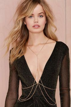 Obsessed with body chains at the moment. Heart of Gold Body Chain | Shop Accessories at Nasty Gal