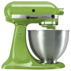 Kitchen Aid Mixer ~ Green Apple  We just got ours as a wedding present - cannot WAIT to use it!