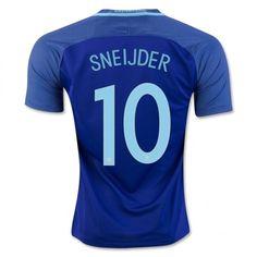 Netherlands National Team 2016 Sneijder  10 Away Soccer Jersey Cheap  Football Shirts a9766fc04