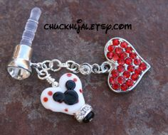 Disney Cell Phone Dust Plugs | Love Dust Plug Mickey Minnie Mouse Style Disney Inspired Dangle ...