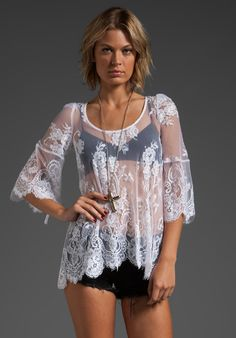 Love the white lace top, BUT OUT OF STOCK!!! TOOOOO BAD.