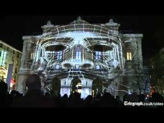 Amazing 3D projection mapped on building