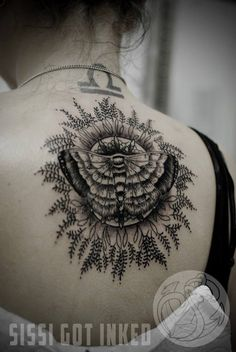 http://tattooideas247.com/moth-mandala-tattoo/ Moth Mandala Tattoo #Back, #Mandala, #MothTattoo