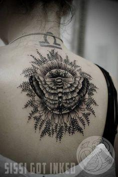 http://tattooideas247.com/moth-mandala-tattoo/ Moth Mandala Tattoo #Back, #Mandala, #MothTattoo