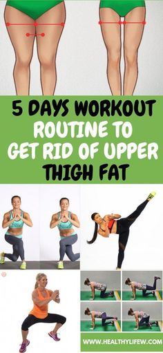 5 DAYS WORKOUT ROUTINE TO GET RID OF UPPER THIGH FAT #womanfitness
