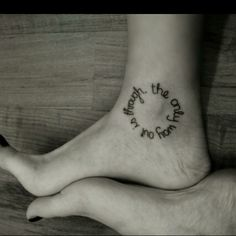 """Circle tat- """"Our circle of friends~there is no beginning~there is no end.""""  @Pam Casey"""