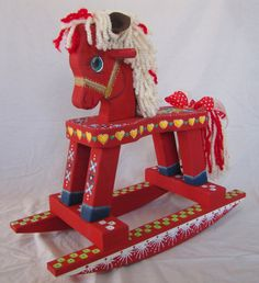 Meet Heidi--a Dream Wooden Rocking Horse