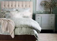 Ethan Allen Mineral Linen Geometric and Paisley Duvet Covers