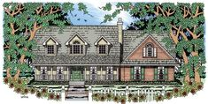 House Plan 79271 | Cape Cod Country Plan with 2003 Sq. Ft., 3 Bedrooms, 3 Bathrooms, 2 Car Garage
