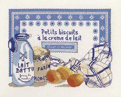 broderie au point de croix Biscuits à l'ancienne en kit broderie de Marie Coeur 4192