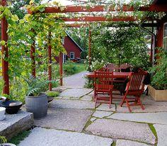 För några veckor sedan lade jag ut en bild på Instagram som visade en underbar uteplats under en rödmålad pergola, skapad av den Stockholmsbaserade trädgårdsdesignern Marika Delin. Marika är en av mina absoluta favoriter bland svenska trädgårdsdesignerns, och jag kikar ofta in på hennes hemsida för att njuta och inspireras. På hemsidan, som du hittar …