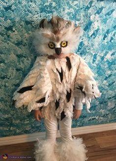 Toddler Owl Costume, Bunny Costume Kids, Bird Costume, Hedwig Costume, Animal Costumes For Kids, Owl Halloween Costumes, Halloween Kids, Owl Costumes, Snow Owl