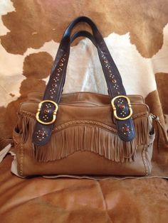 a082633be8f6 MICHAEL KORS HANDBAG W  FRINGE CUTE WESTERN FLAIR WITH BLING VINTAGE RARE   MichaelKors  Vintage