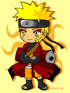 Chibi Naruto in sage mode