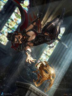 Lyanne, a maior ladra do reino. Não existe uma recompensa por sua cabeça pois nunca foi vista em um roubo