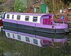 Narrowboat in the Rochdale Canal, Hebden Bridge