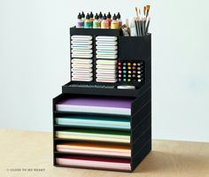 This just in! CTMH now has organization solutions for any disorganised craft room. Stackable, rearangable, and mix-matchable, to fit your space! http://hellotarina.closetomyheart.com/Retail/Products.aspx?CatalogID=245