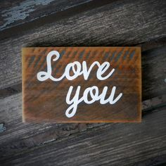 Valentine's Day Rustic Pallet Wood Sign - Love you - $10 by ThreeDrinkMinimum