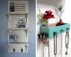 Recicla partes de tus muebles viejos, como las puertas o cajones