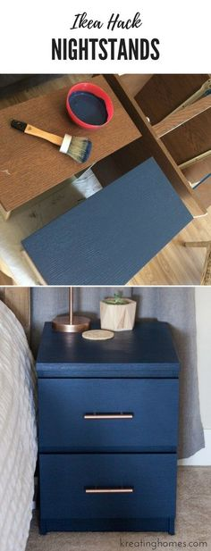 Ikea Nightstand Hack Nightstana Bedroomdiy Furniture