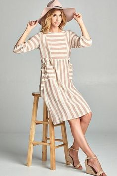 Darling Autumn Linen Dress