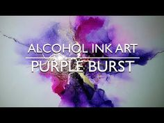 Alcohol Ink Art – Purple Pulse - New Sites Alcohol Ink Glass, Alcohol Ink Crafts, Alcohol Ink Painting, Ink In Water, Acrylic Pouring Art, Resin Artwork, Fluid Acrylics, Ink Color, Colour