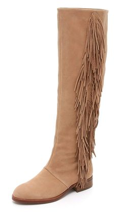 0f105956d Sam Edelman Josephine Suede Tan Tall Knee High Boots Size 8 Color  Tan  Style  Over The Knee Fringe Detailing Upper  Suede Shaft Circumference Pull