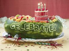 Celebrate!   (includes instructions). http://www.wikihow.com/Carve-a-Watermelon-to-Celebrate-an-Event