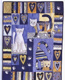 I Love My Cat- Lynette Anderson 10-99 issue of Austrailian Patchwork & Quilting. order this issue of the magazine for $6.95 from Connecting Threads' catalog (800/574-6454).