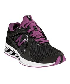 New Balance Black & Purple Walking Shoe - Women Power Walking, New Balance Black, Walk This Way, Glass Slipper, Only Fashion, Summer Of Love, Walking Shoes, Workout Gear, High Heels