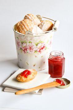 raspberri cupcakes: Lemon Madeleines & Rhubarb Jam