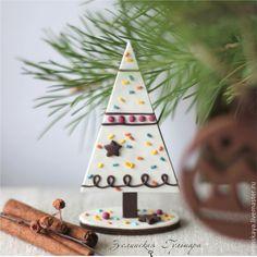 Купить Мини-елочка Пряничная. Сувенир - белый, пряничная, елочка, елка, новоголний сувенир, зима