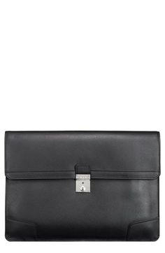 $345, Tumi Astor Drexel Leather Envelope Briefcase Black One Size. Sold by Nordstrom. Click for more info: https://lookastic.com/men/shop_items/142497/redirect